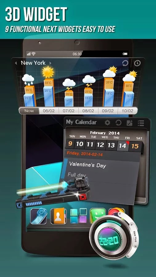 Next Launcher 3D Shell v3.7 Patched