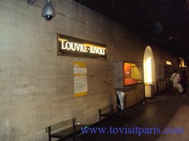 Louvre-rivoli metro station