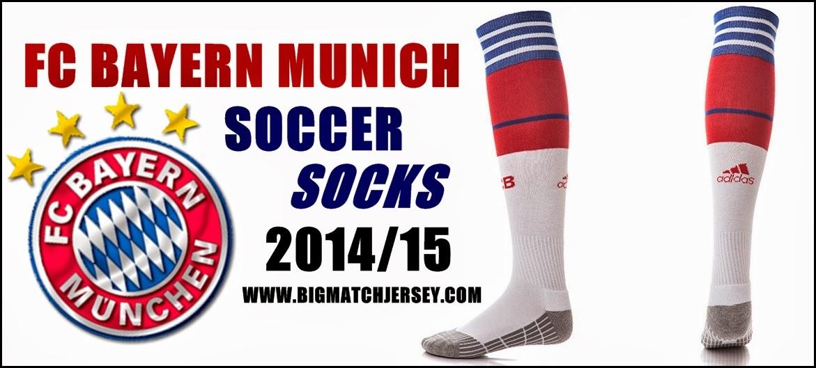 adidas FC Bayern 14-15 Home Socks - WhtRedRoyal