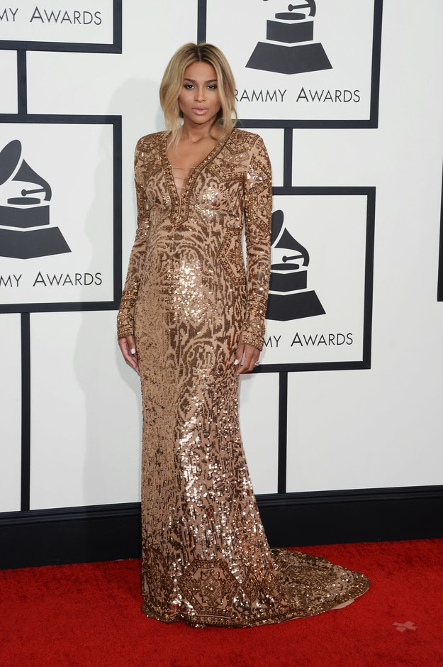 Ciara in Emilio Pucci at the Grammys