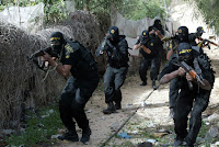 Palestinian Islamic Jihad fighters training in the Gaza Strip.