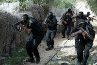 Palestinian Islamic Jihad fighters training in the Gaza Strip.