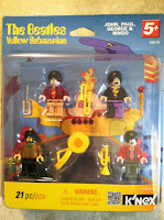 K'NEX Beatles Yellow Submarine figures Like Legos minifigs