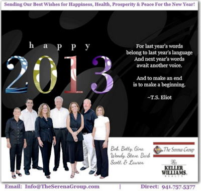 Happy New Year 20132 from The Serena Group, Bradenton, real estate, agents, realtors