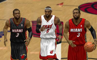 NBA 2K13 Miami Heat Jerseys Patch Mods PC