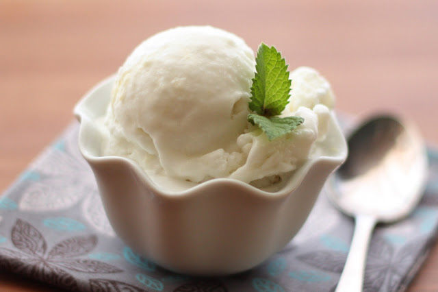 Pineapple Mint Gelato recipe by Barefeet In The Kitchen