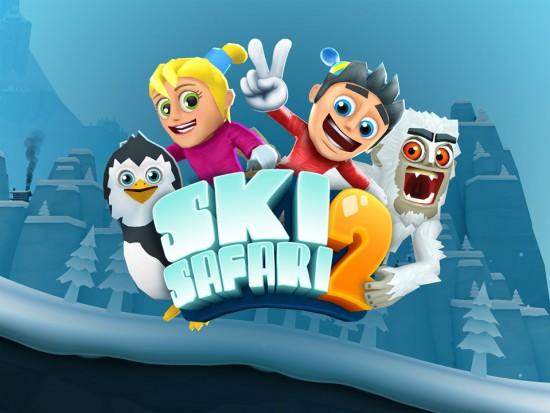 لعبة ski safari باصدارها الثاني متوفرة بالمجان على متجر الاندرويد