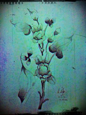 motif bunga batik