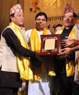 Pawan Chamling and Bimal Gurung in Darjeeling