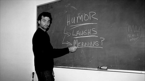 young Bill Murray at blackboard - Humor, Laughs, Meaning 70's cigarette