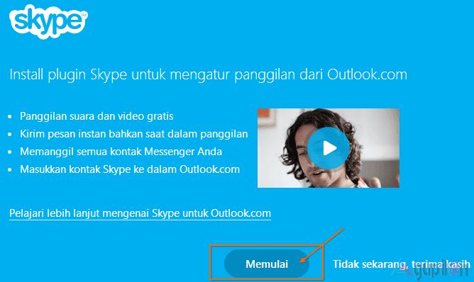 Cara Membuat Panggilan Skype Via Web Browser