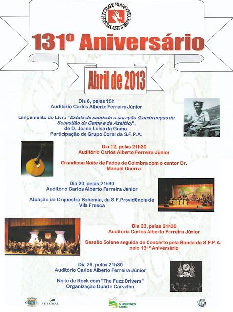 S.F.P.A. 131º Aniversário - Abril 2013