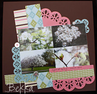Signs of Spring Scrapbooking Page using Stampin' Up! Nursery Suite Papers