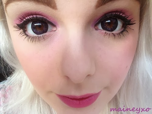 Beuberry B.B Violet colored contacts