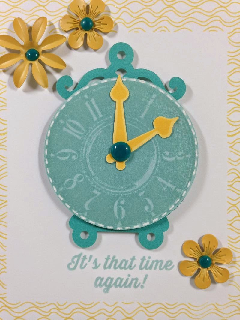 Cricut Artiste It's that time again! card - closeup