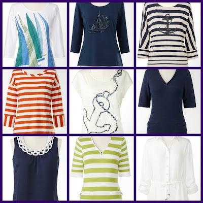 women's nautical tops