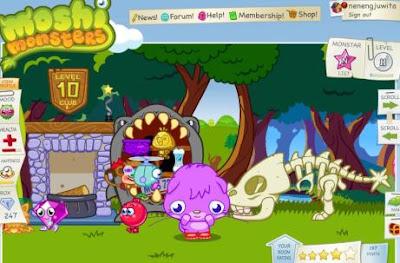 Cool Room Moshi monsters