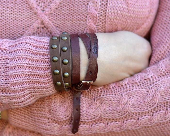 bracciali pelle borchie