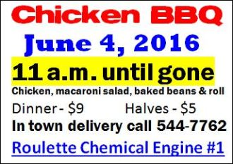 6-4 Chicken BBQ-Roulette Fire Dept.