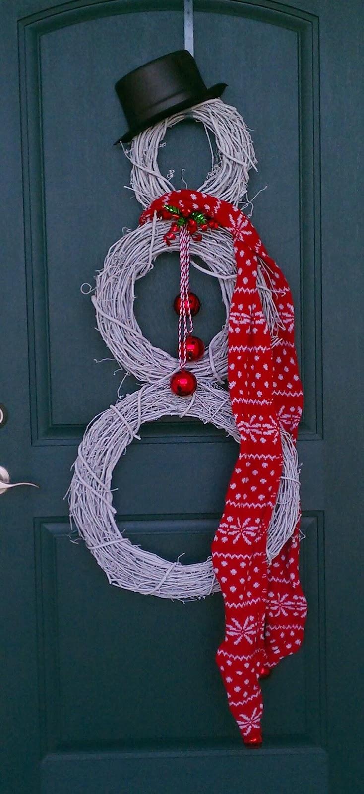 Navidad Decoracion De Puertas ~ decora tu puerta con mu?ecos de nieve de coronas navide?as