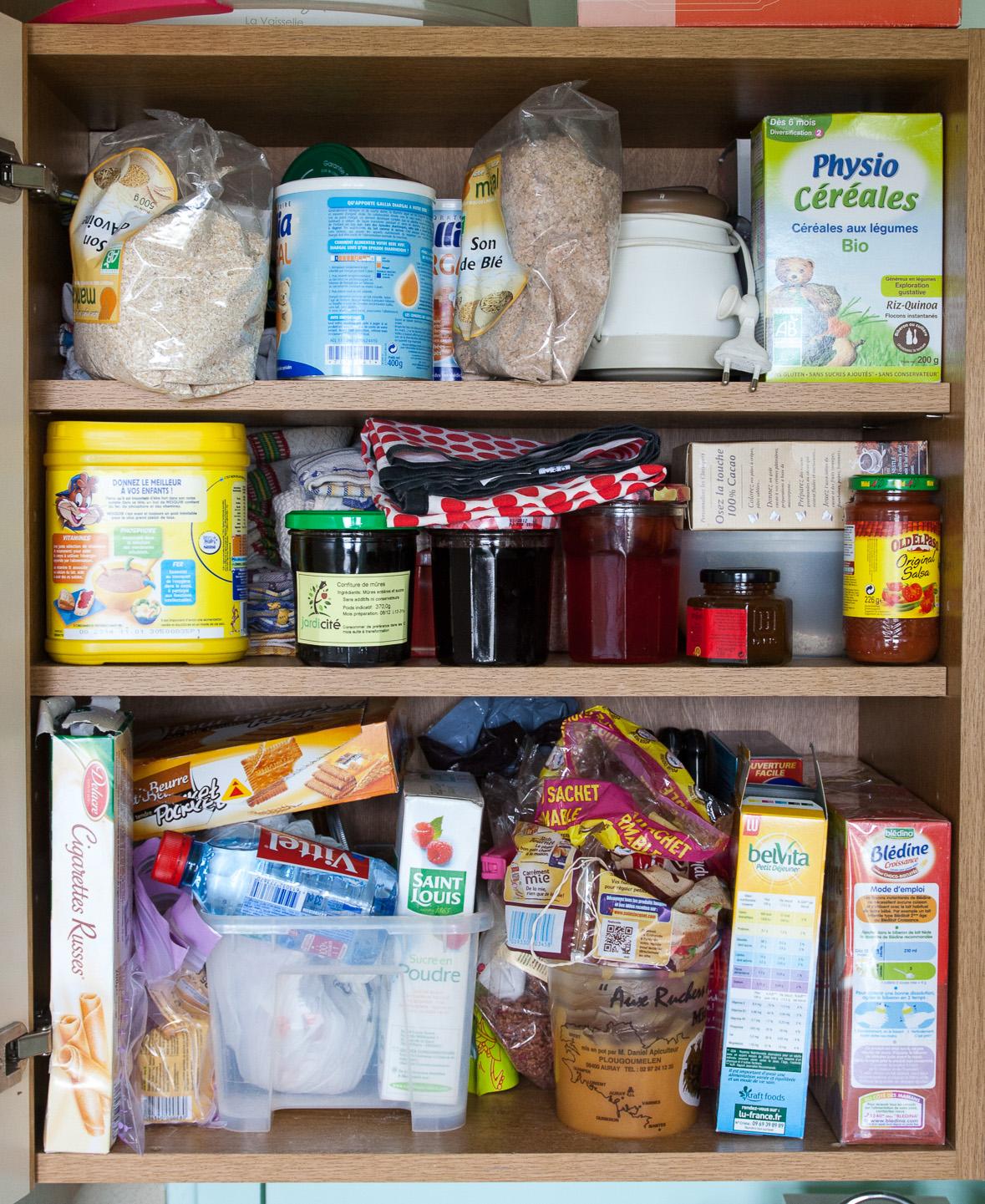 Agencer et mijoter rangement les placards provisions for Placard cuisine trop profond