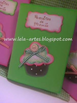caderno receitas decoração cup cake