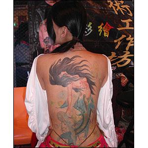 Tatuagens nas Costas amsculinas e femininas