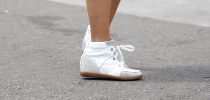 Wedge sneakers fashion blog