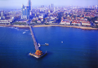 Overlook View of Qingdao Zhan Qiao, you can visit it when you take a China tour to Qingdao to have a cold summer vacation.