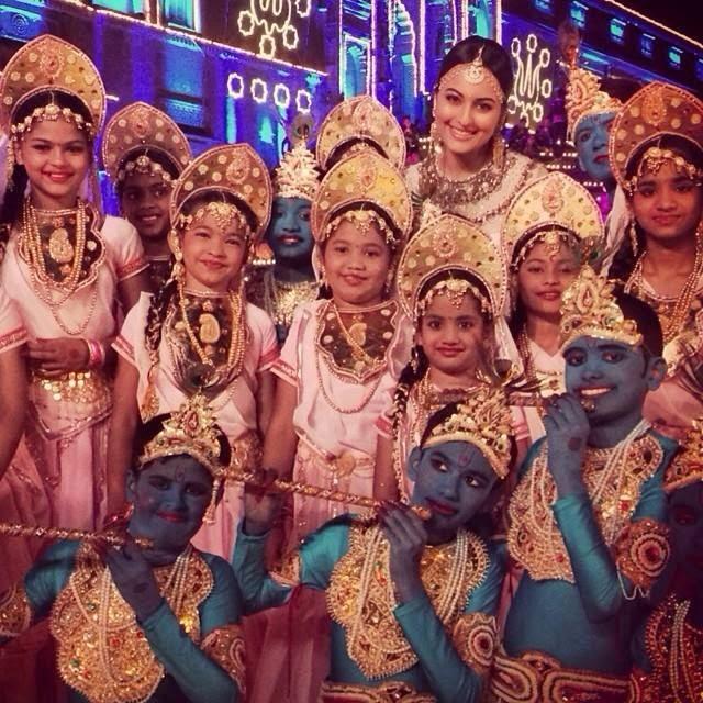 Sonakshi Sinha celebrates Janmastmi with children