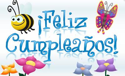 Feliz cumpleaños abeja y mariposa