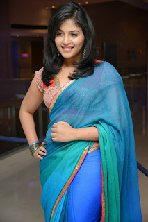 Actress Anjali Latest  Pictures in Saree at Masala Audio Launch  0068