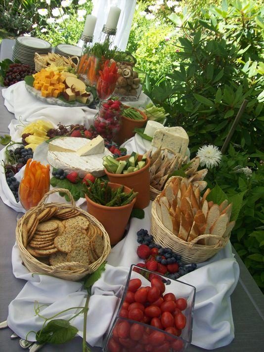Beautiful Bridal Picnic Style Wedding Reception Food Ideas
