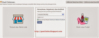 Membuat Fans Page Facebook Di blog