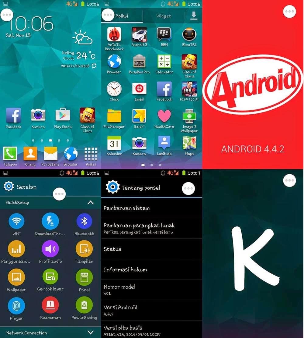Custom ROM Samsung Galaxy S5 V2 untuk Lenovo A316 Terbaru | Super Mirip!