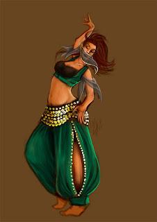 pintura danza arabe
