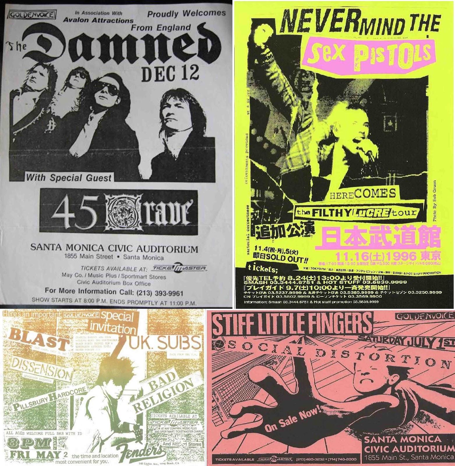 Original Punk Fashion Original 70's Punk Flyers