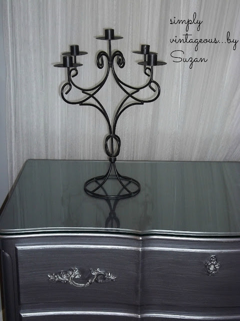 dresser, before, after, silver, pewter, metallic, painted
