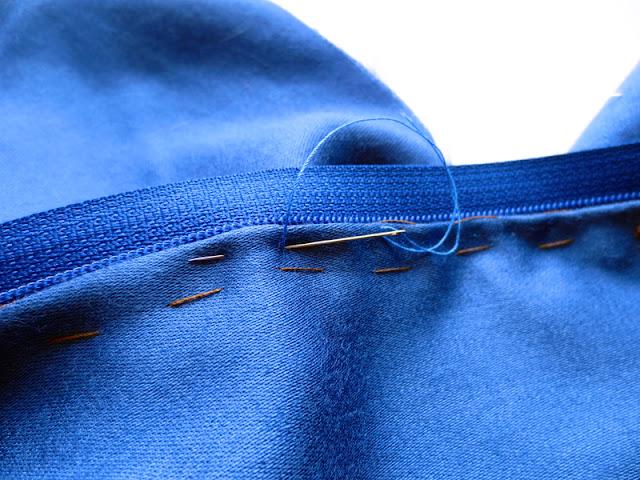 Pick stitch zip blue dress cotton sateen   www.stinap.com