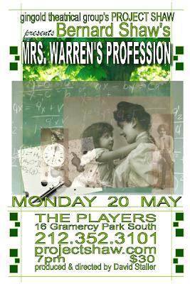 project shaw mrs warren's profession