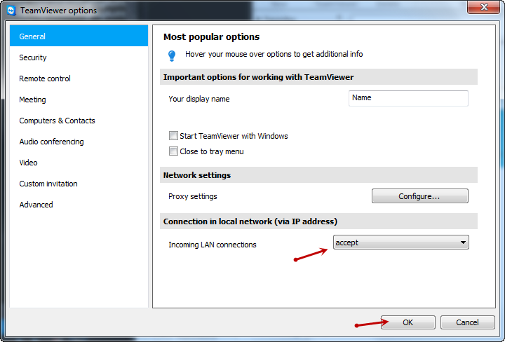 how to connect teamviewer with ip address