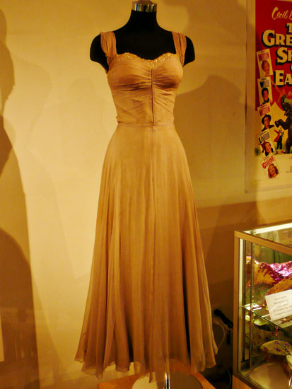 Debbie Reynolds costume exhibit Elizabeth Taylor dress by Lady by Choice