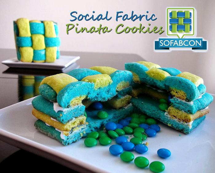 Social Fabric Pinata Cookies #LuvSoFab14 #CollectiveBias #SoFabCon14