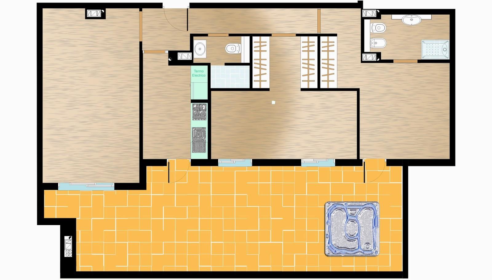 excepto baos luminoso tranquilo en origen eran dormitorios se ha unido habitacin doble con simple para amortizar el espacio with venta jacuzzi exterior