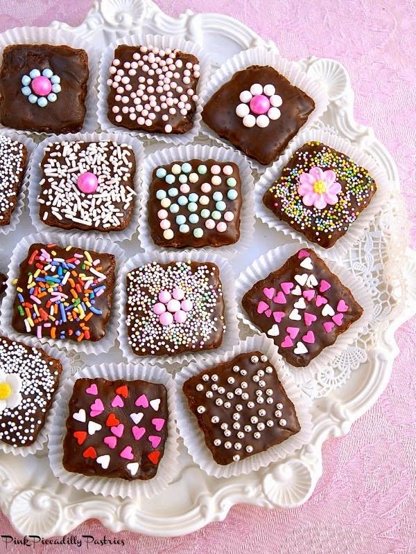Brownie Bites for Valentine's Day