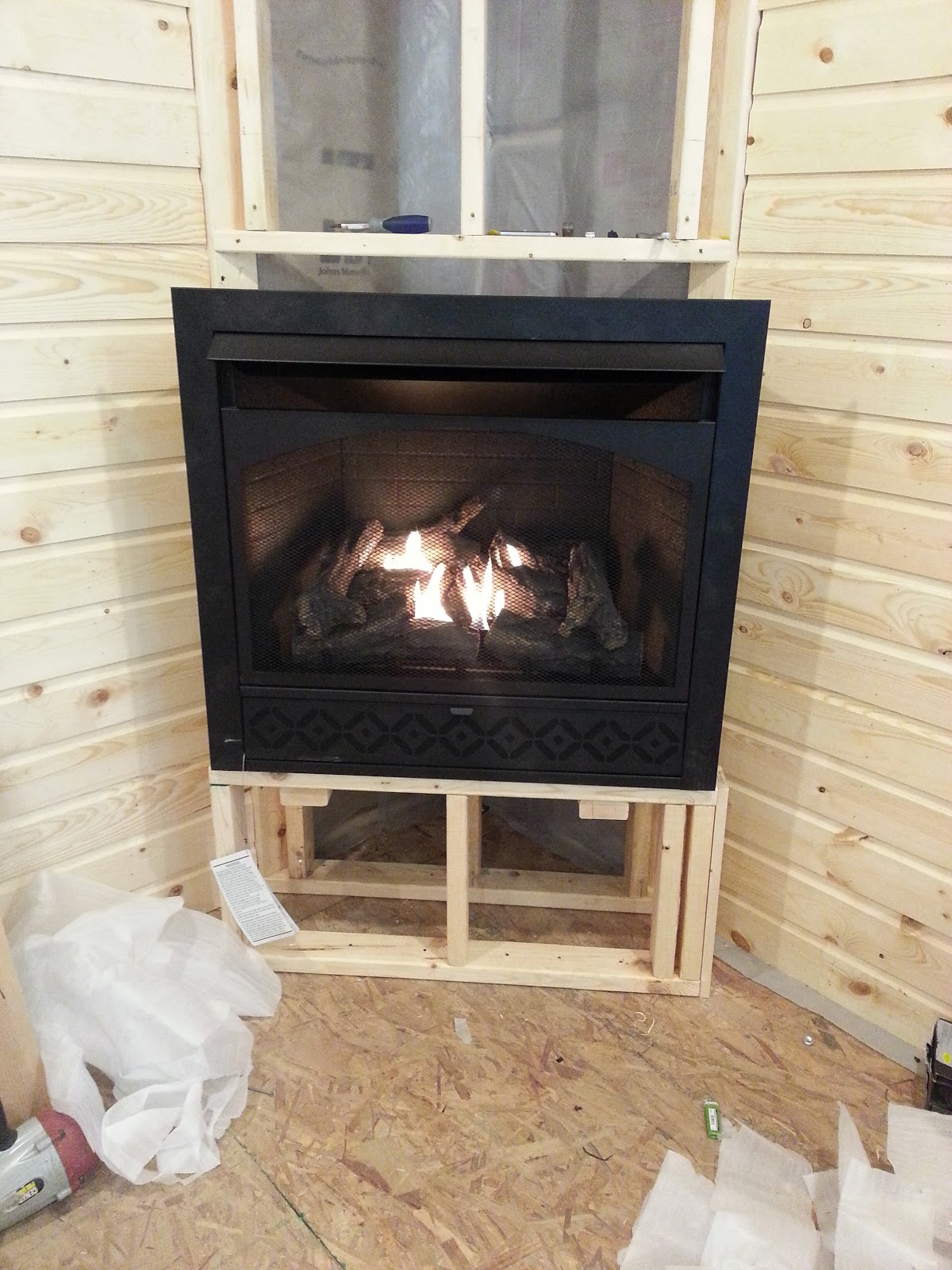 adhdiy fireplace installation