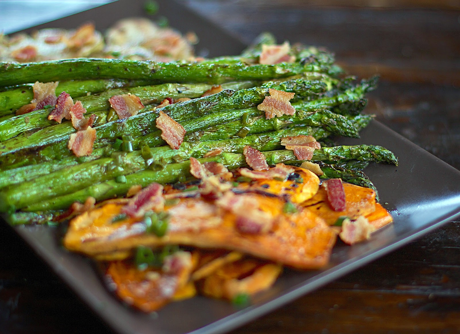 Local Food Rocks: Grilled Asparagus + Potatoes with Bacon