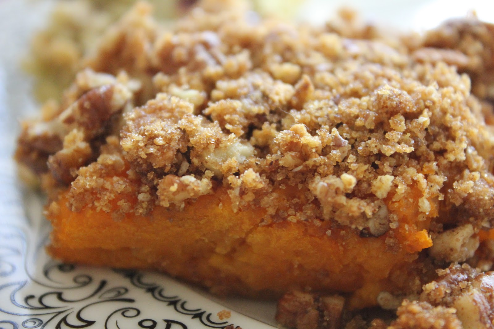 ... made with love: Pampered Chef- Pecan Crumble Sweet Potato Casserole