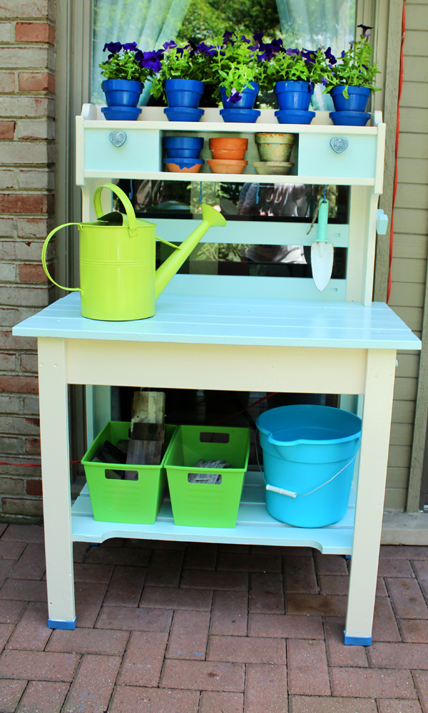 Another Bright Idea Refinished Potting Bench Tutorial