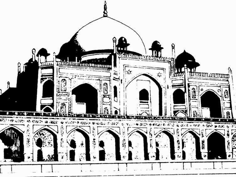Line Drawing Of Qutub Minar : Gods leaders images drawings monuments of india